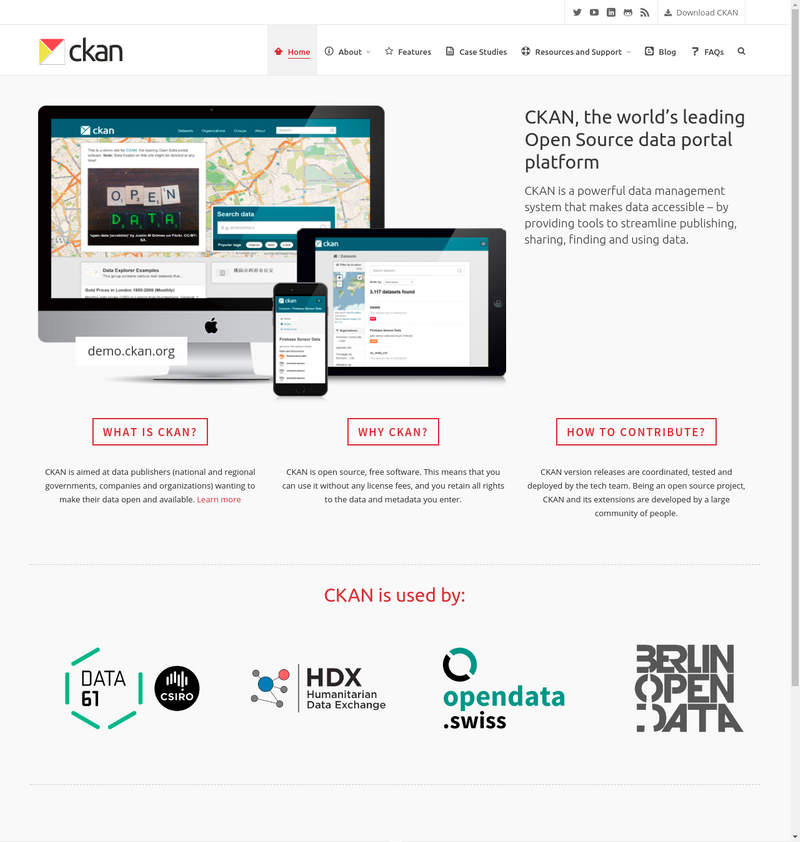 CKAN - Datenportal Plattform