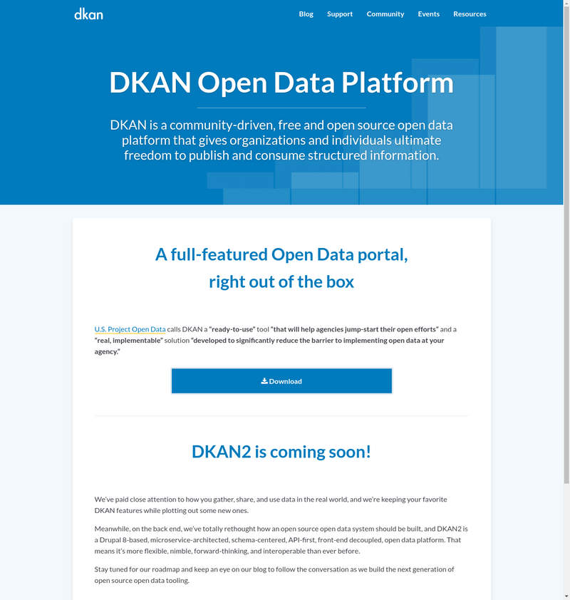 DKAN - Open Data Plattform