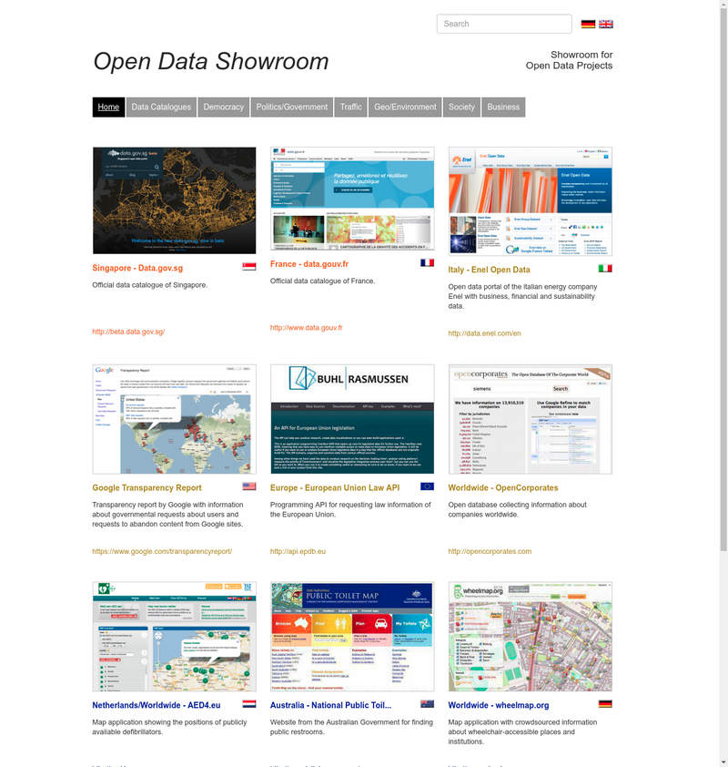 Open Data Showroom