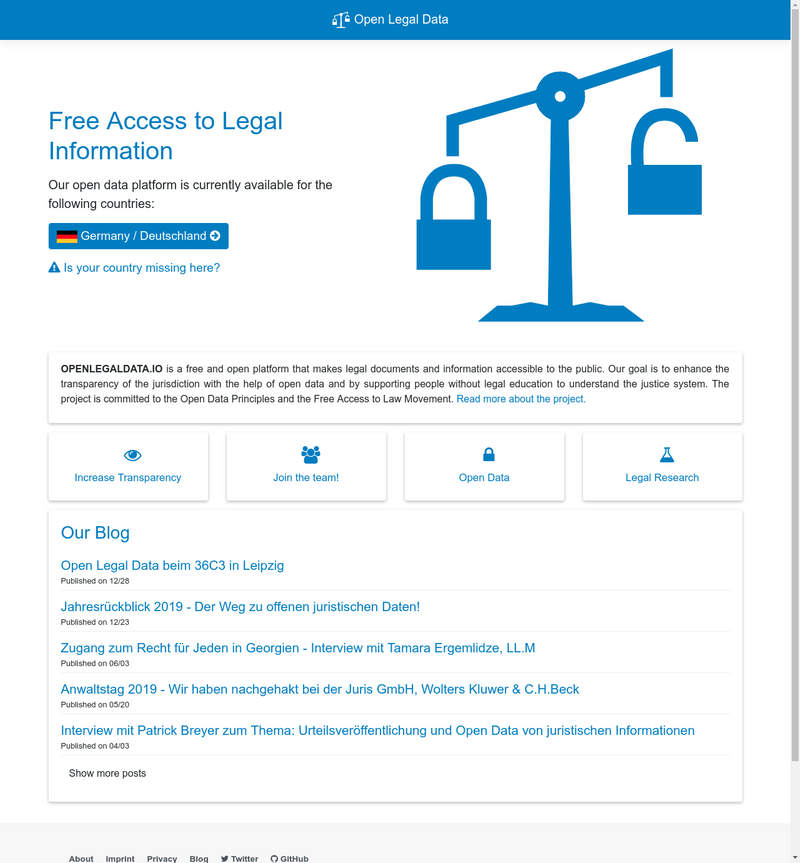 Open Legal Data