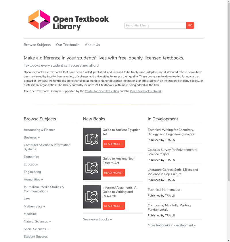 Open Textbooks Library