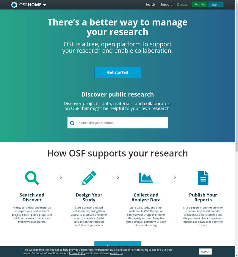 OSF - Open Science Framework