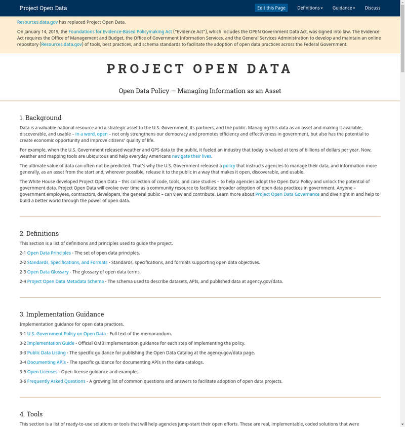 Project Open Data