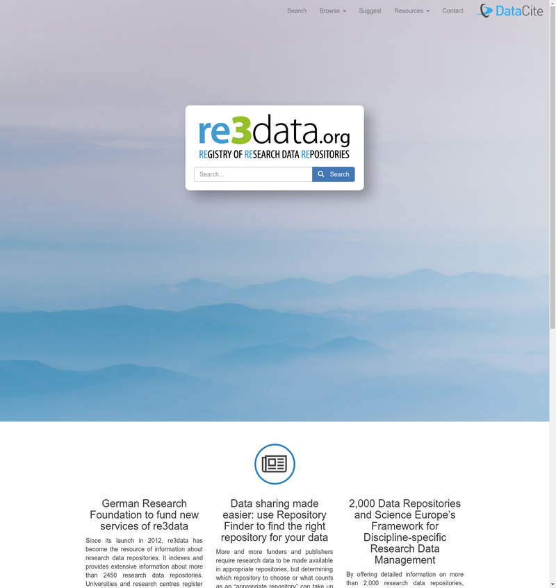 re3data.org (Registry of Research Data Repositories)